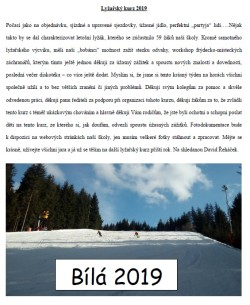 Lyžařský kurz 2019