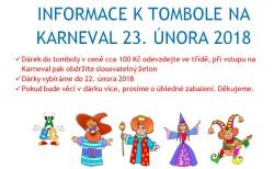 INFORMACE K TOMBOLE